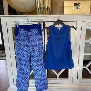 Gianna Bini - royal blue top and IN Girl pant